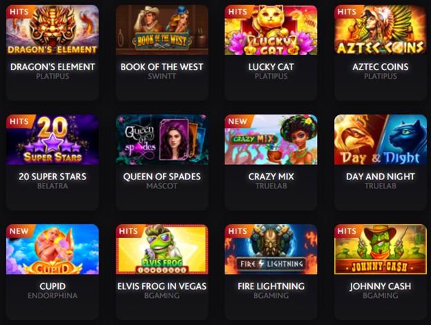 7BitCasino slot games