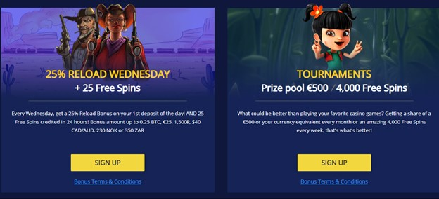 BetChain casino free spins bonuses