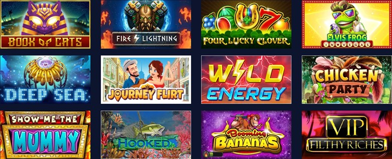 BetChain casino slot games section