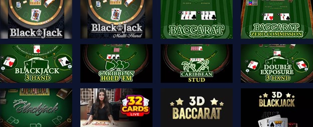 BetChain casino table games