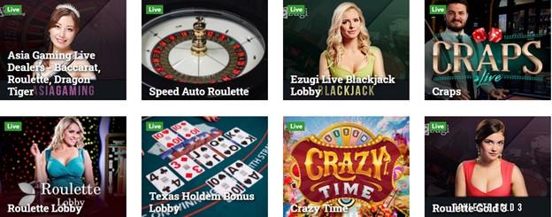Betcoin.ag live dealer games