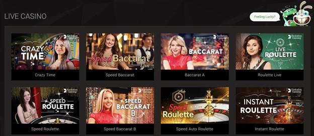 BitStarz live casino games