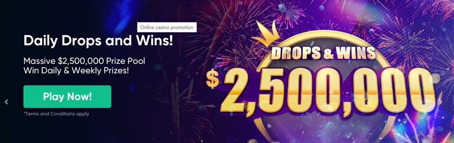 Daily Drops and Wins – Bitcoin.com Casino promotion