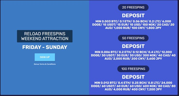 Reload Freespins Weekend Attractions