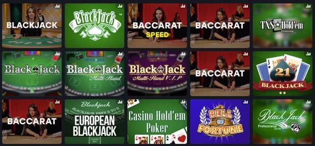 Card games on Fairspin casino – blackjack, baccarat, poker