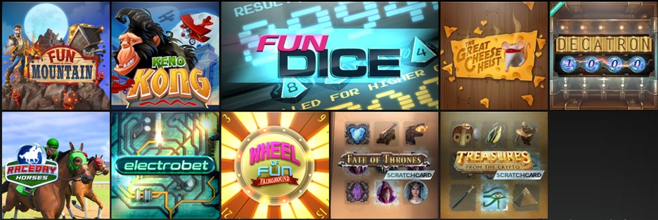 CasinoFair casino Instant Games section