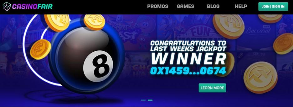 CasinoFair homepage