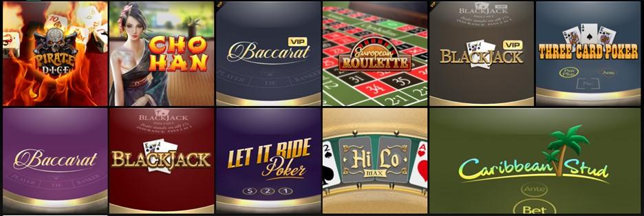 CasinoFair casino table games