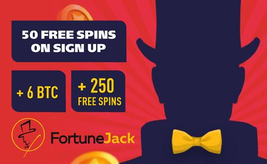 FortuneJack sign up bonus