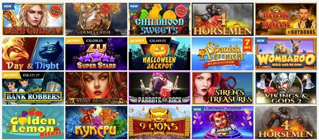 PlayAmo Casino slot games section
