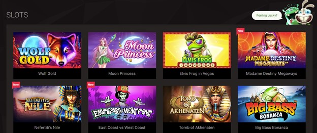 Slots selection on BitStarz Casino