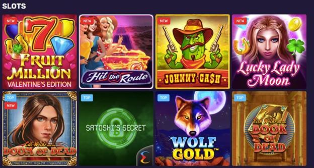 Slot games on Bitcoincasino.io