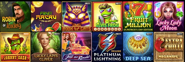 Slot games on Bitkingz
