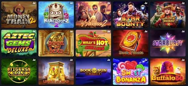 Slot games on Fairspin casino