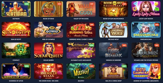 Slot games on Slotman casino
