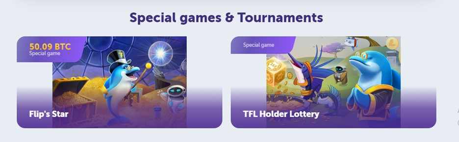 Special games and tournaments on TrueFlip casino