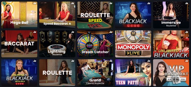 Table games with live dealer on Fairspin casino