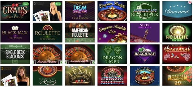 Table games on Kingbit casino