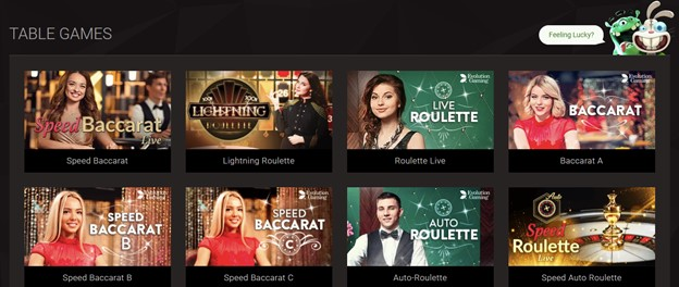 Table games on BitStarz Casino