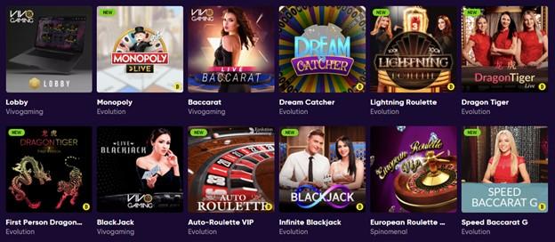 Live games on BAO Casino
