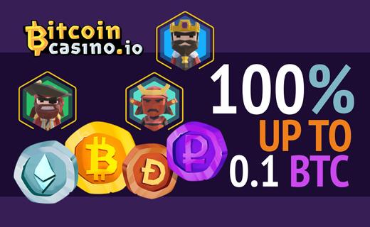 Bitcoincasino.io welcome bonus