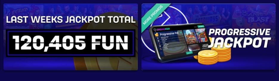 Progressive jackpot on CasinoFair