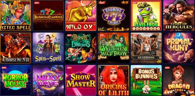 mBit Casino slot games section
