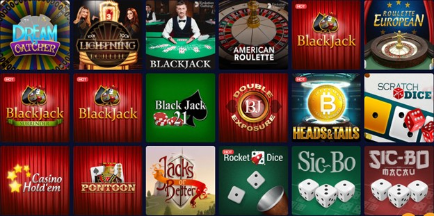 mBit Casino table games section
