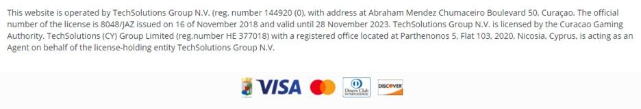22BET license information