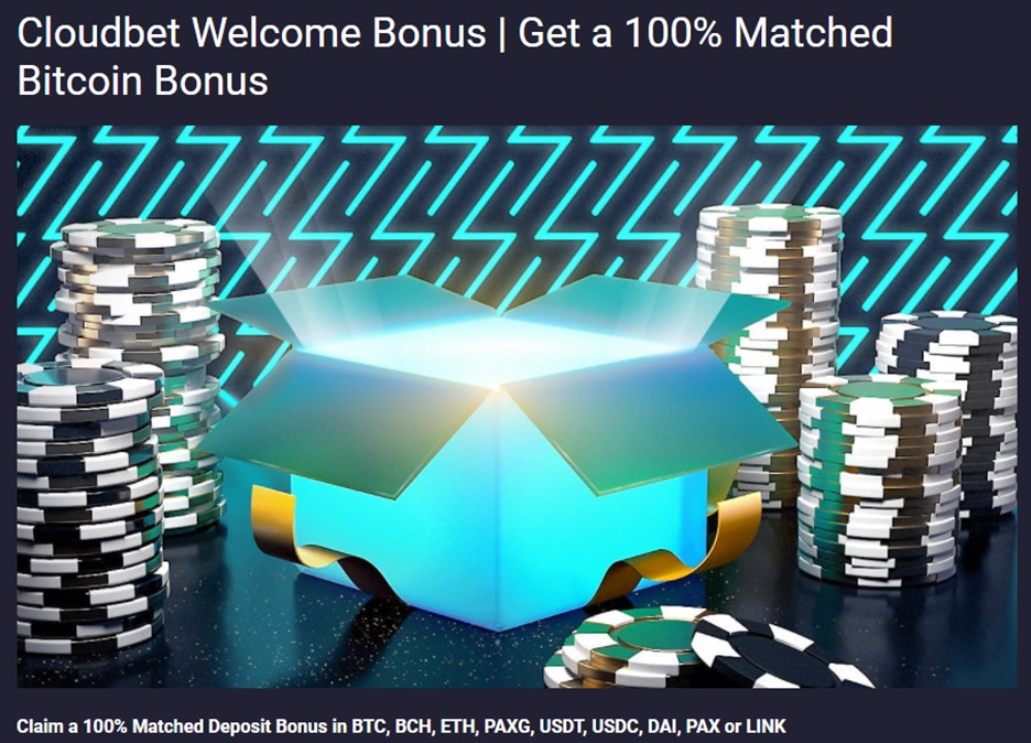 Cloudbet Bitcoin Welcome bonus