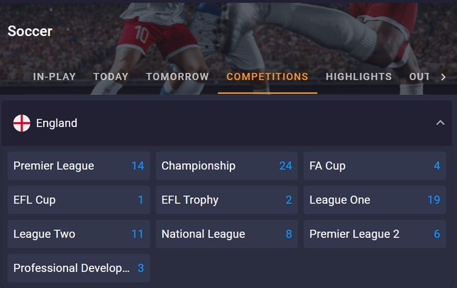 Cloudbet football betting options