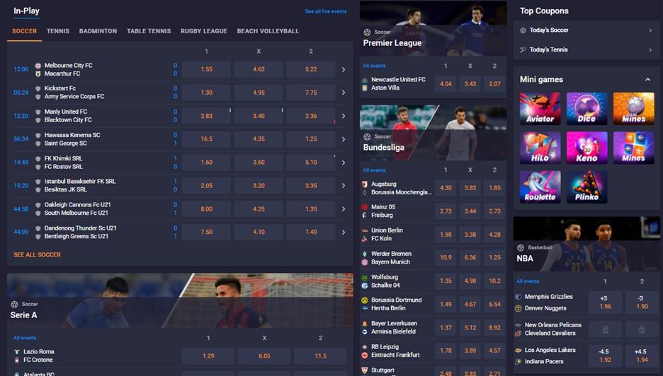 Cloudbet Bitcoin sportsbook