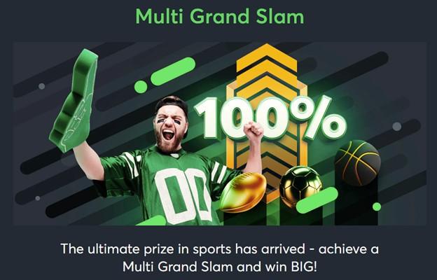 Sportsbet.io Multi Grand Slam promotion