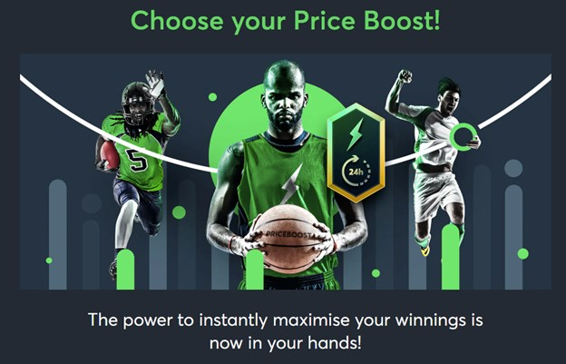 Sportsbet.io Price Boost promotion