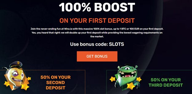 Winz casino first deposit bonus with promo code