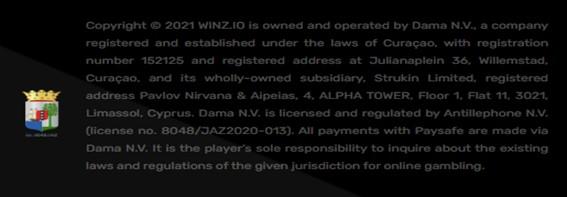 Winz.io license information
