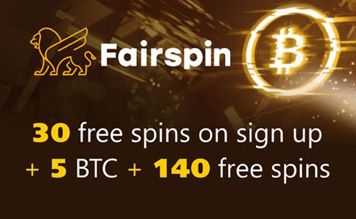 Fairspin welcome bonus