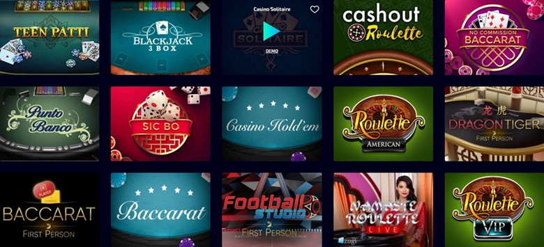 Casino table games you can play on Wild Tokyo site