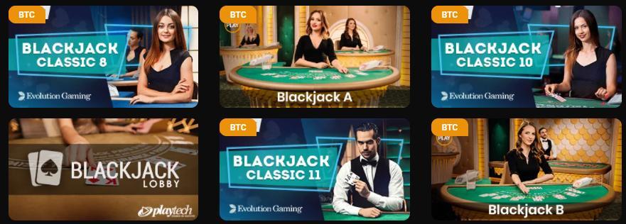 casinochan blackjack selection