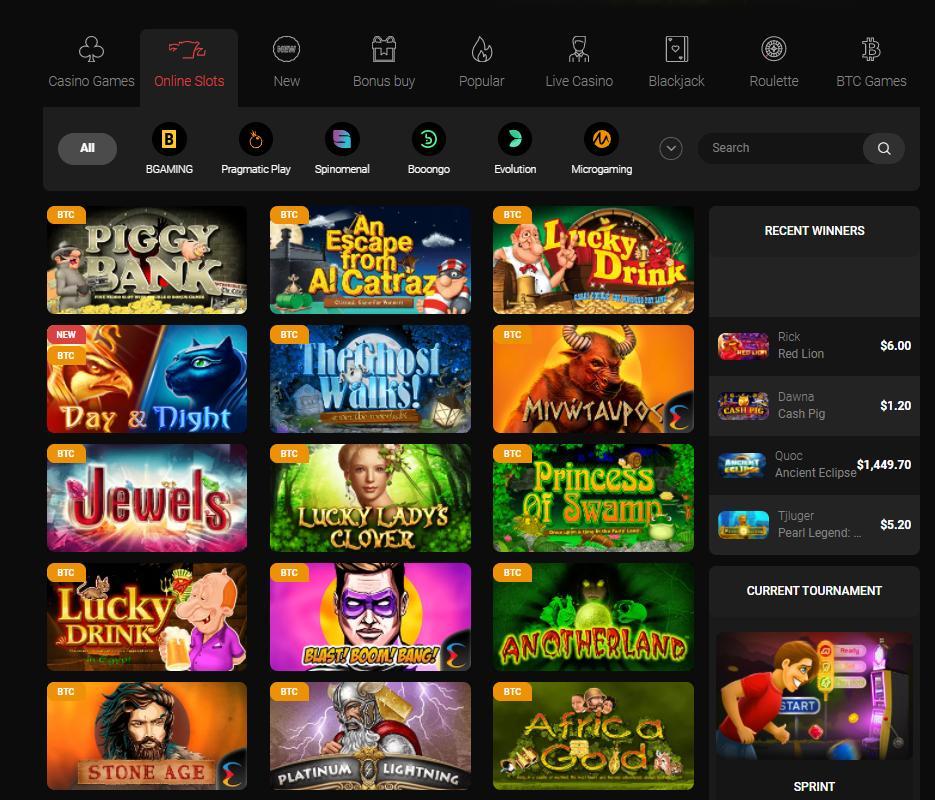 casinochan slots selection