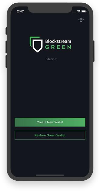 BlockStream Green Wallet app