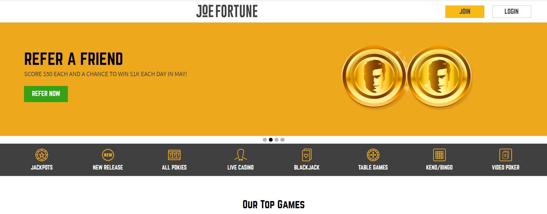 joe fortune choice of games