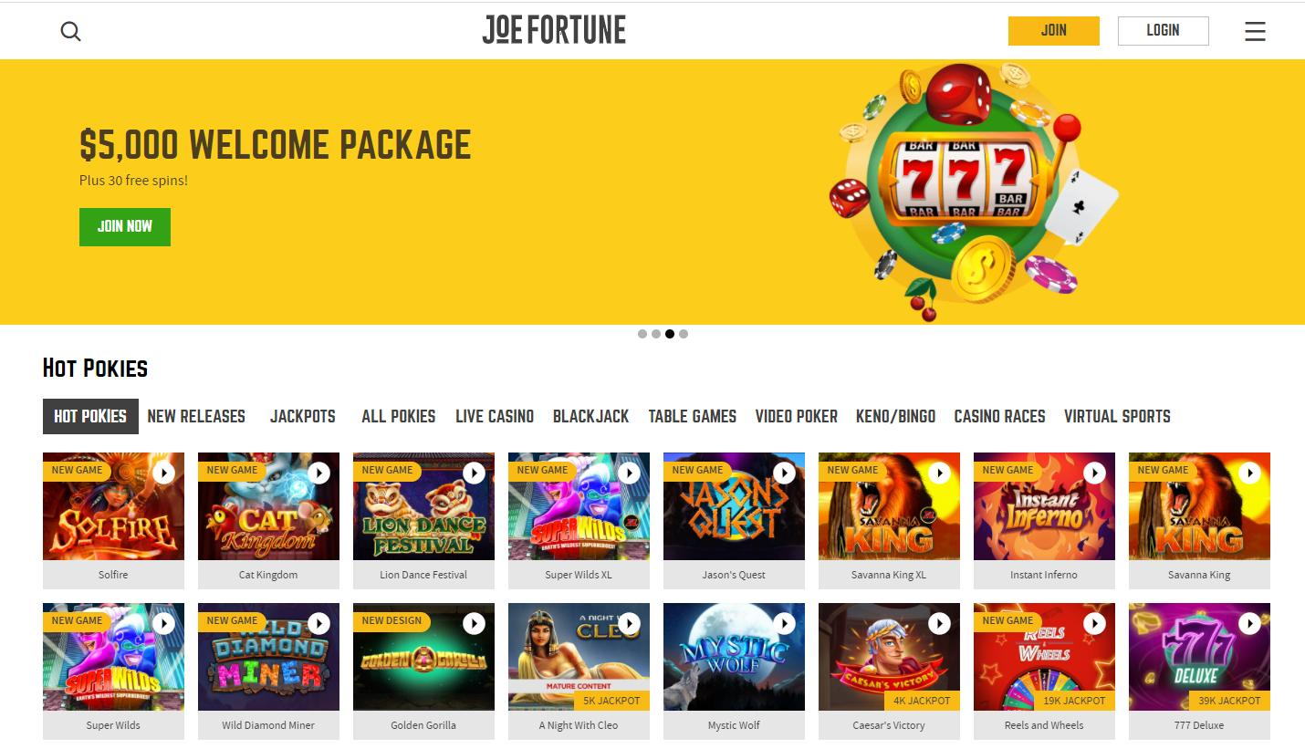 joe fortune home page