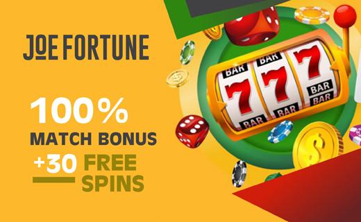 Joefortune casinobonus