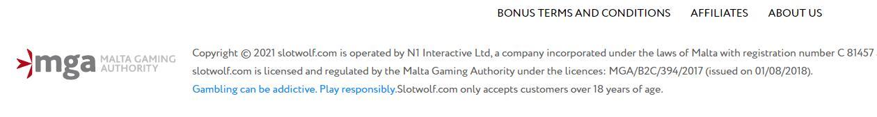 slot wolf mga licence