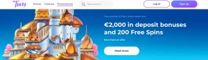 Bonuses offered by Tsars bitcoin casino