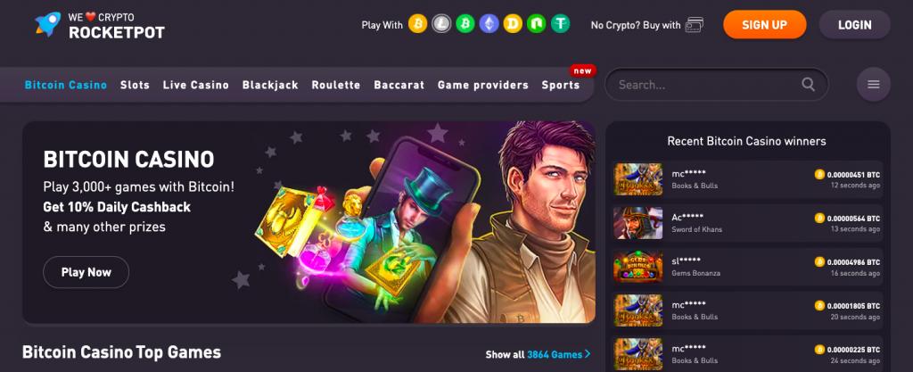 Regulated Rocketpot online casino