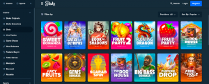 Slot games on Stake casino listed