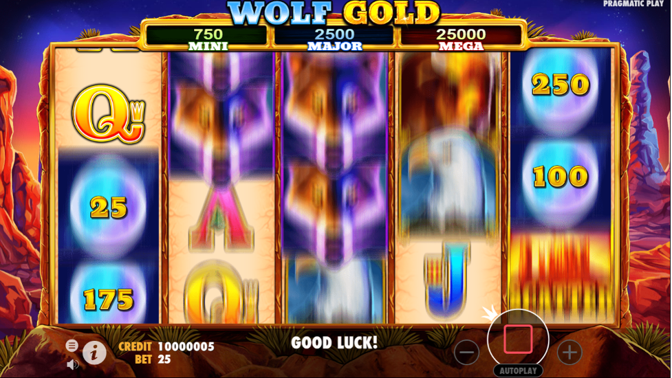 Wolf Gold slot autoplay option