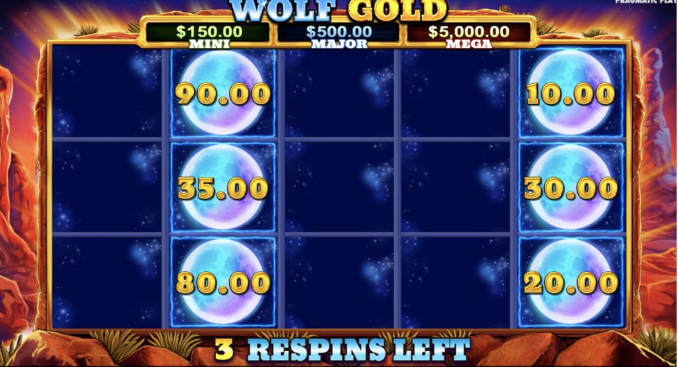 Wolf Gold Money Respin feature